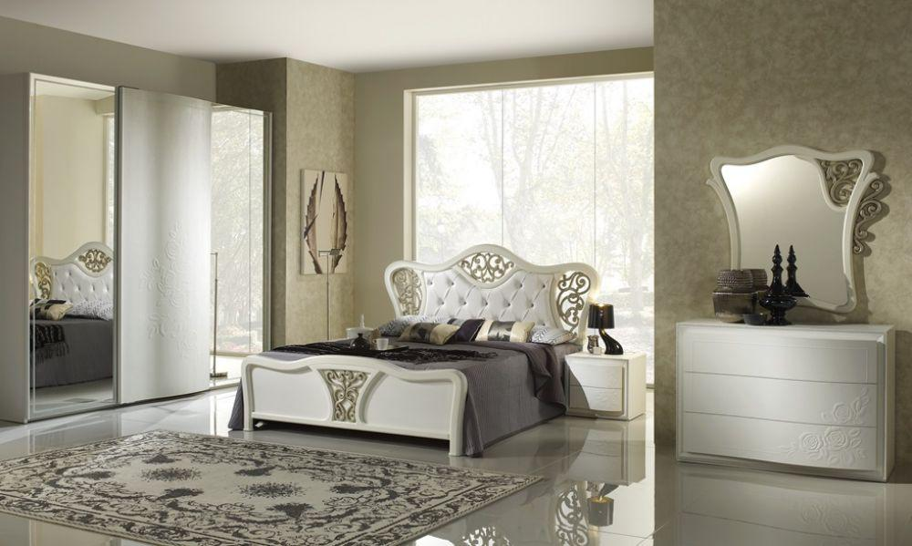 schlafzimmer chana stauraum bett taila 180x 200 cm weiss. Black Bedroom Furniture Sets. Home Design Ideas