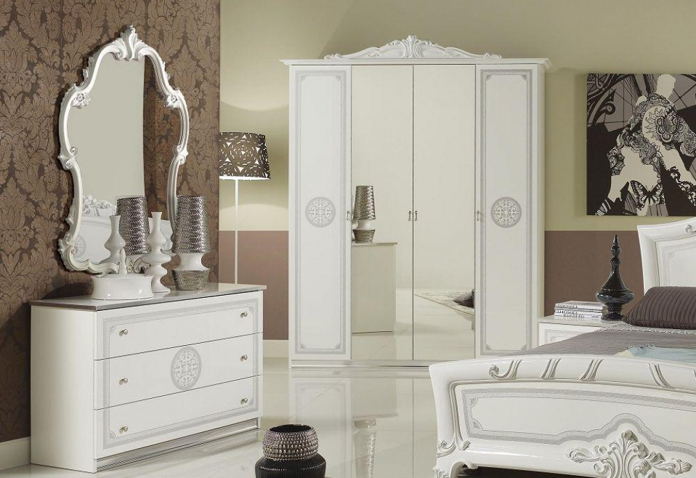 kommode mit spiegel great weiss silber klassik barock. Black Bedroom Furniture Sets. Home Design Ideas