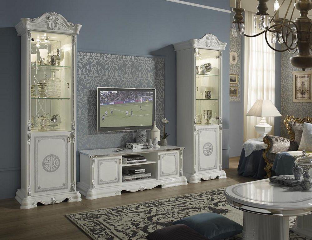 Kommode Great weiss silber Klassik Barock Italienische Möbel ...