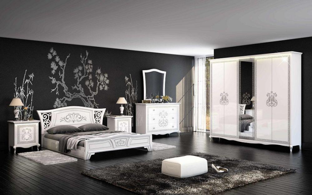 schlafzimmer via weiss creme modern klassisch kaufen bei kapa m bel. Black Bedroom Furniture Sets. Home Design Ideas