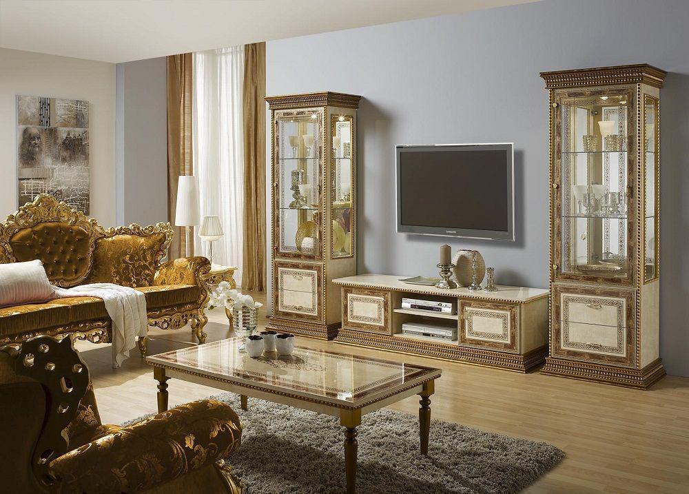 Vitrine Jenny schwarz gold Klassik Stilmöbel Barock - Kaufen bei ...