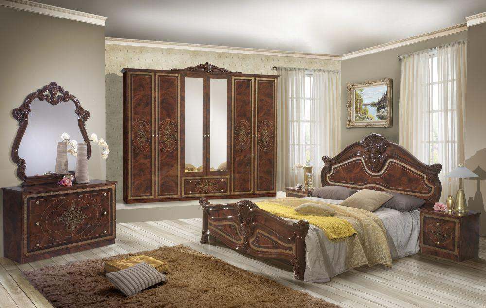 schlafzimmer amalia in walnuss klassik italienisch kaufen bei kapa m bel. Black Bedroom Furniture Sets. Home Design Ideas