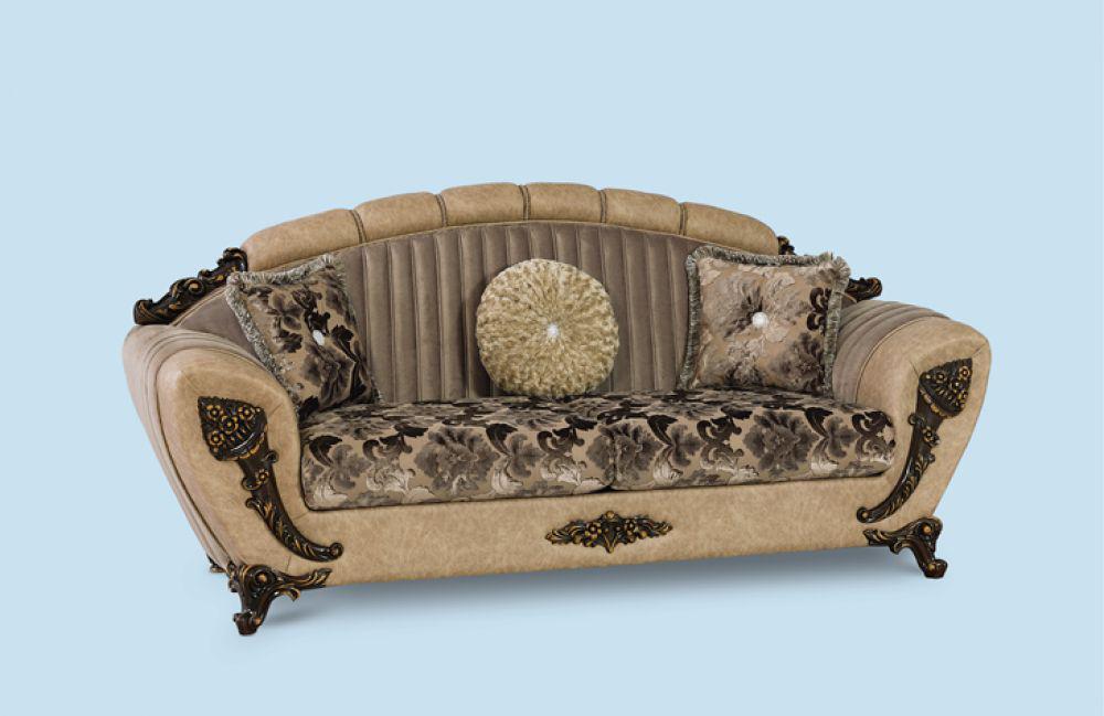 couch mirac 3er braun klassik barockstil orient kaufen. Black Bedroom Furniture Sets. Home Design Ideas