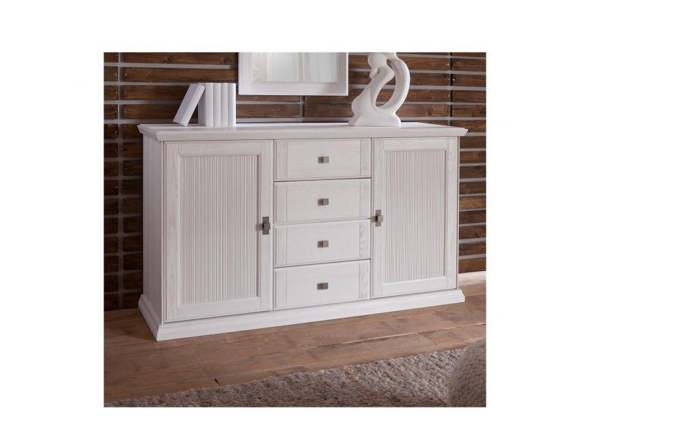 kommode christa im landhausstil weiss pinie massiv kaufen bei kapa m bel. Black Bedroom Furniture Sets. Home Design Ideas
