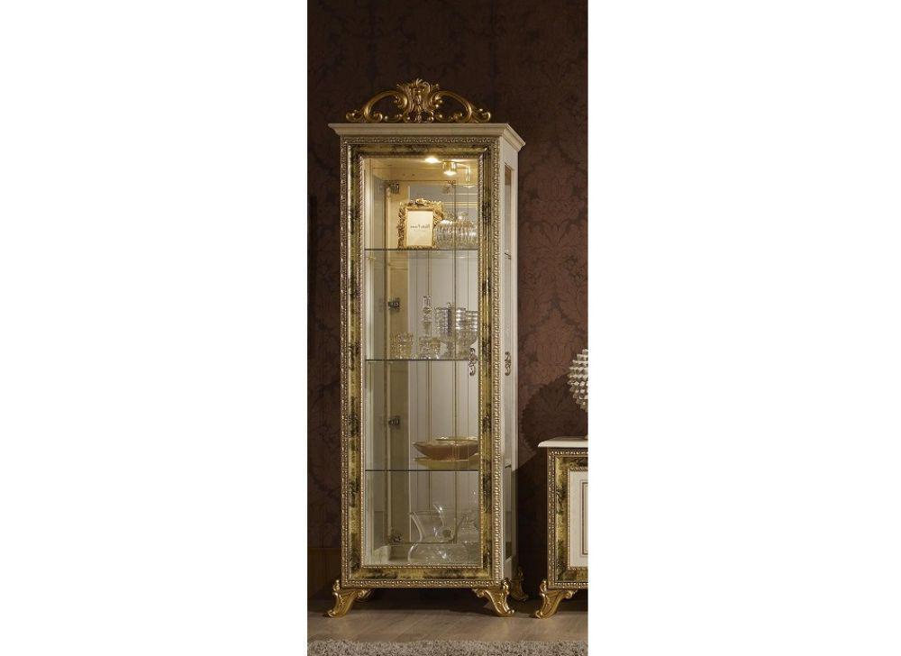 Vitrine 1trg Karla Beige Gold Italien Luxus Für Wohnzimmer ... Wohnzimmer Beige Gold