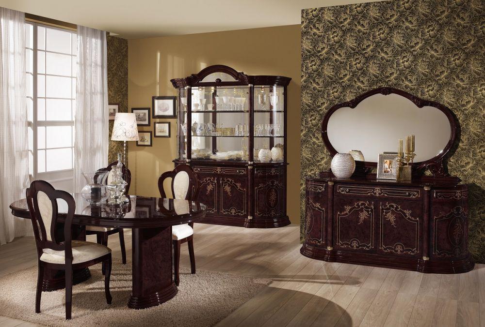 esstisch mit st hlen rozza walnuss klassisch barock. Black Bedroom Furniture Sets. Home Design Ideas