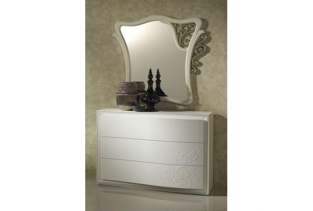 bett harmony 160x200 in weiss creme luxus kaufen bei. Black Bedroom Furniture Sets. Home Design Ideas