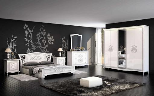 hochglanz schlafzimmer creme g nstig online kaufen yatego. Black Bedroom Furniture Sets. Home Design Ideas