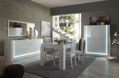 esszimmer weiß hochglanz: komplett esszimmer set hochglanz weiß, Innenarchitektur ideen