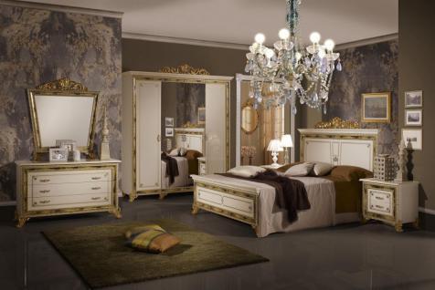 Schlafzimmer Karla Beige Gold Italien König Barock Bett 160 Kls