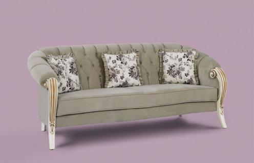 Couch Kübra grau Klassik Barockstil Orient