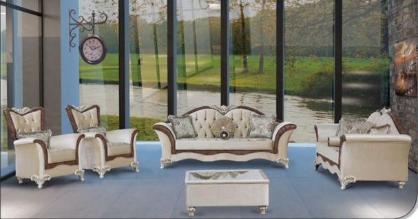 Sitzgruppe Jüpiter beige braun Klassik Barockstil Orient