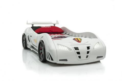 Autobett M3 Whitecar weiss mit Spoiler Bett Kinderbett