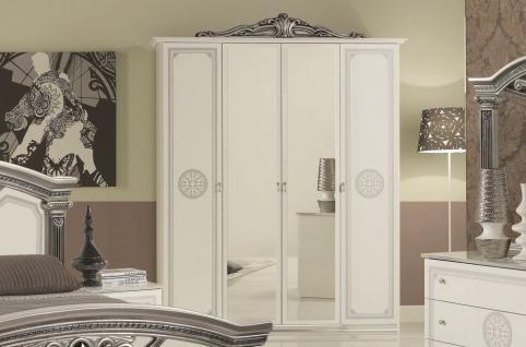 Kleiderschrank weiß barock  Kleiderschrank Silber online bestellen bei Yatego