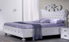 Bett 160 x 200 cm Swan in weiss elegant