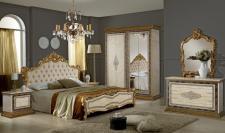Schlafzimmer Jenny in beige Gold Luxus Edel italienisch