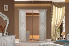Kleiderschrank Florenz 4türig in beige creme für Schlafzimmer
