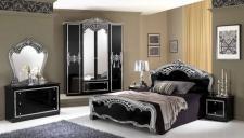 Schlafzimmer Siona in schwarz silber klassische Möbel