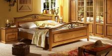 Bett 160 x 200cm Sandra im Landhausstil in old style honig