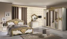 Schlafzimmer Elisa in weiss Gold 6 türig Luxus italienische Möbe