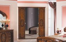 Kleiderschrank Florenz 4türig in walnuss für Schlafzimmer