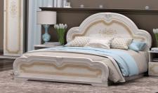 Bett 160x200 cm Elena beige creme Barock Klassik