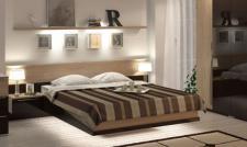 Bett mit Stauraum Tera 160 x 200 in eiche braun mit LED