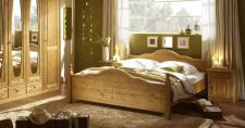 Bett 160 x 200cm Verra im Landhausstil Pinie teilmassiv Natur