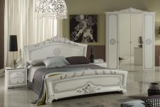 Schlafzimmer 180x200cm Great weiss silber 4tlg