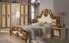 Schlafzimmer Agata in beige gold creme Klassik 160x200 4tlg