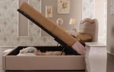 Stauraumbett Rege 160x200 cm Polsterbett in beige