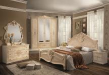 Schlafzimmer Amalia in beige creme klassik italienisch 4trg