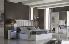 Schlafzimmer set Gama Kleiderschrank 2 trg weiß 4tlg