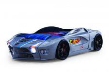 Autobett Speed in grau mit Frontbeleuchtung