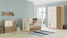 Babyzimmer Carino braun beige weiss Tier Sternmotiv Zauberhaft