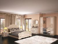 Schlafzimmer Lana beige creme weiss Barock Klassik