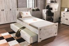 Bettschubkasten Woodlife in weiss im Landhausstil