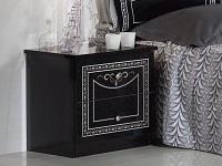 Nachtkonsole Liara in schwarz silber Klassisch Orientalisch