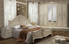 Schlafzimmer Amalia in beige creme klassik italienisch 4tlg