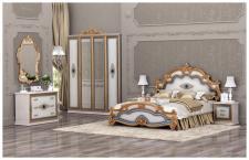 Schlafzimmer Sicilia in beige gold 160x200