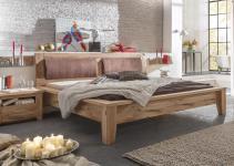 Bett 200x200 cm Tina Landhausstil Asteiche massiv geölt