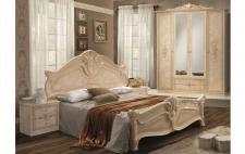 Schlafzimmer Amalia in beige creme klassik italienisch 4trg 4tlg