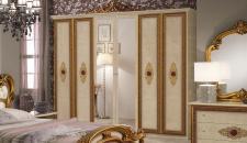 Kleiderschrank 6trg Silvia Agata in beige gold creme Klassik Bar