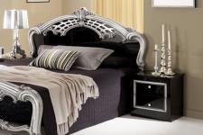 Nachtschrank Siona in schwarz silber klassische Möbel