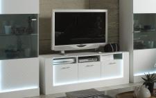 Tv Unterschrank Biverli in weiss Hochglanz Wohnzimmer