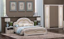 Schlafzimmer Elena beige creme Barock Klassik 4tlg