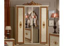 Kleiderschrank 4trg Silvia Agata in beige gold creme Klassik Bar