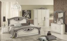 Schlafzimmer Giulia in weiss silber Klassik Barock