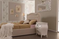 Bett Rege 160x200 cm Polsterbett in beige
