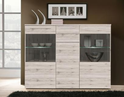 highboard mit beleuchtung emily 3 t rig in eiche antik kaufen bei m bel lux. Black Bedroom Furniture Sets. Home Design Ideas